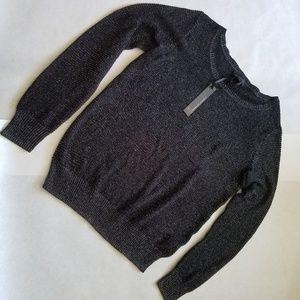 Women's Sparkly Black Sweater